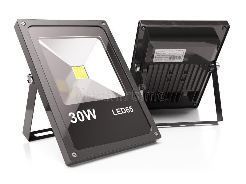 Grupp av LED flodljus vektor illustrationer