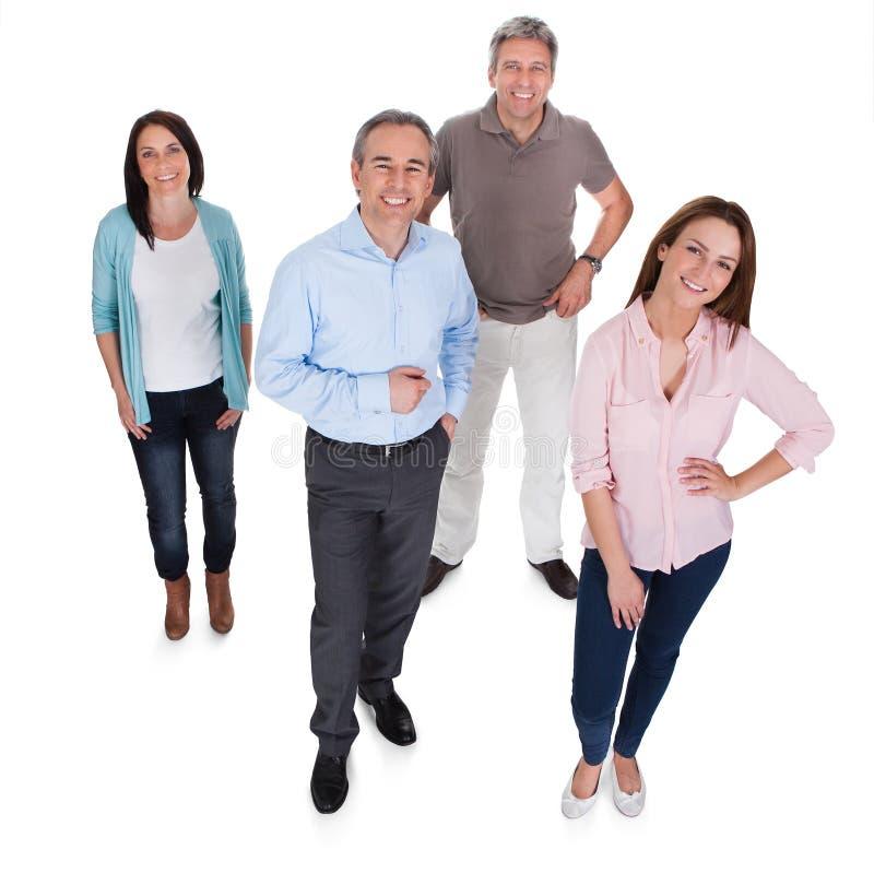 Grupp av lyckliga businesspeople arkivfoton