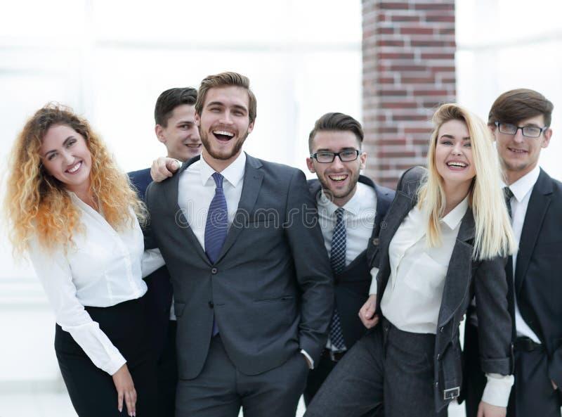 Grupp av lyckliga kollegor royaltyfria bilder