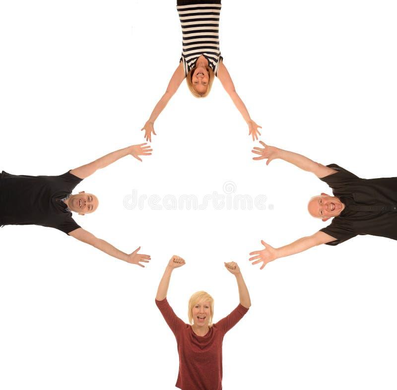 Grupp av lyckligt folk royaltyfri fotografi