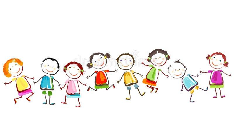 Lyckliga barn vektor illustrationer