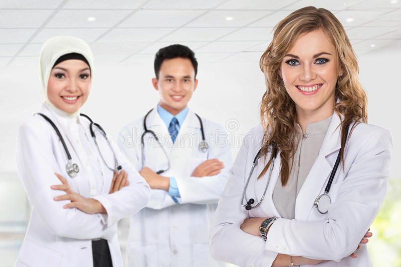 Grupp av medicinska arbetare royaltyfri foto