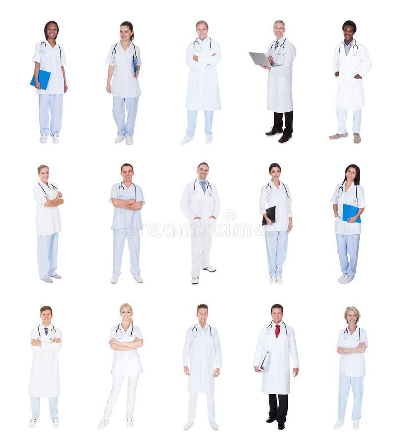 Grupp av medicinska doktorer royaltyfria foton