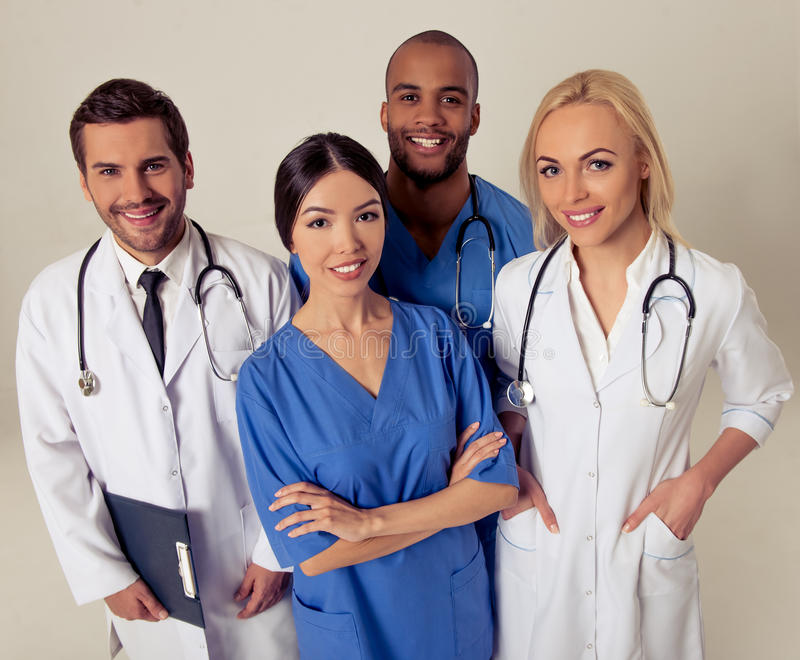 Grupp av medicinska doktorer arkivfoto