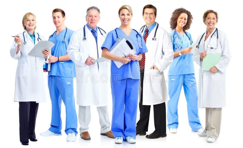 Grupp av medicinska doktorer och sjuksköterskor royaltyfri bild
