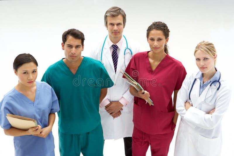 Grupp av medicinska professionell royaltyfria bilder