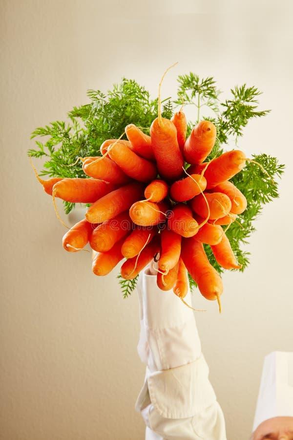 Grupp av morötter underifrån royaltyfri foto