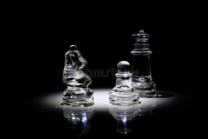 Grupp av schackpjäser royaltyfri foto