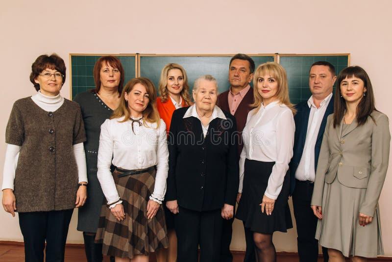 Grupp av skolalärare royaltyfri fotografi