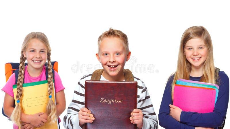 Grupp av skolbarn royaltyfria foton