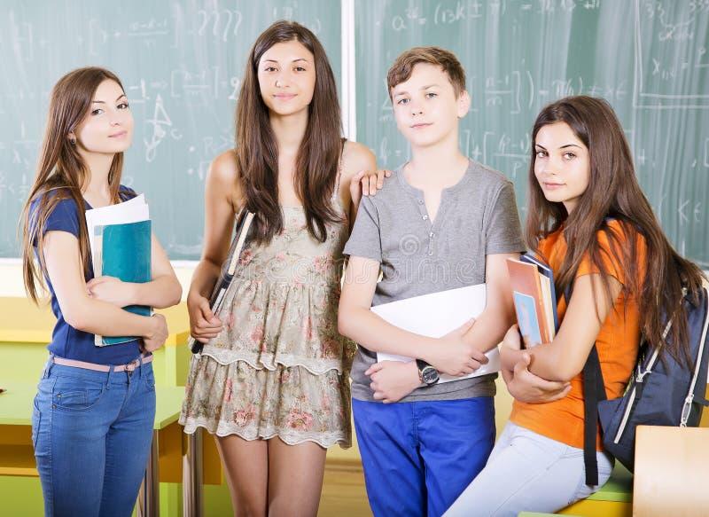 Grupp av studenter arkivfoton