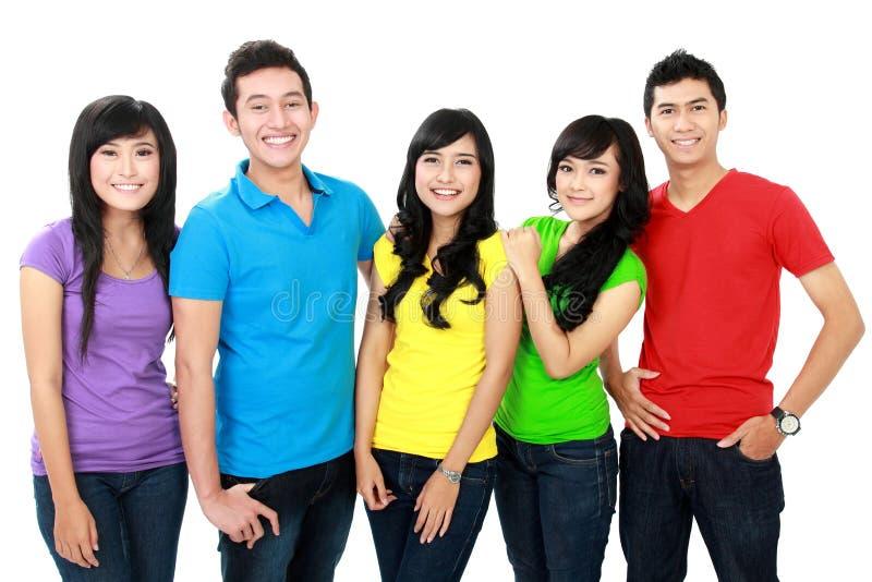 Grupp av tonåringar fotografering för bildbyråer