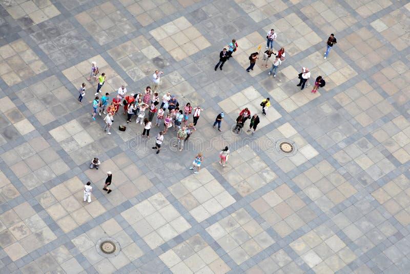 Grupp av turister royaltyfria bilder