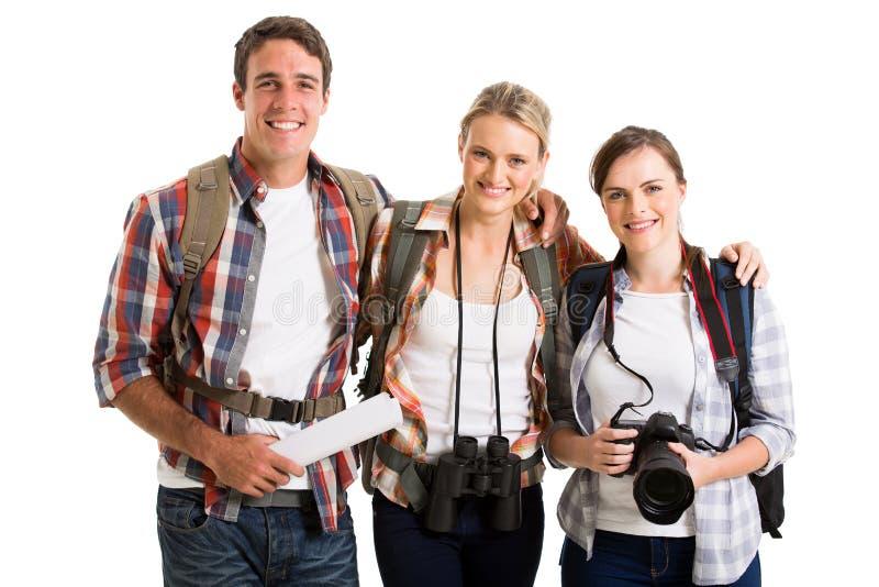 Grupp av turister fotografering för bildbyråer
