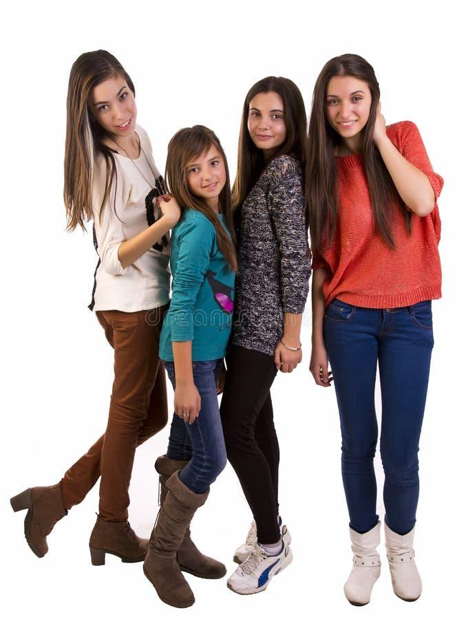 Grupp av ung tonår royaltyfri bild