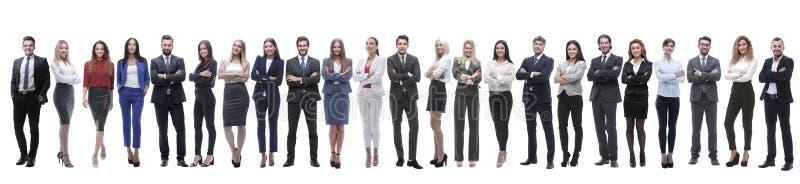 Grupp av unga entreprenörer som i rad står royaltyfri foto