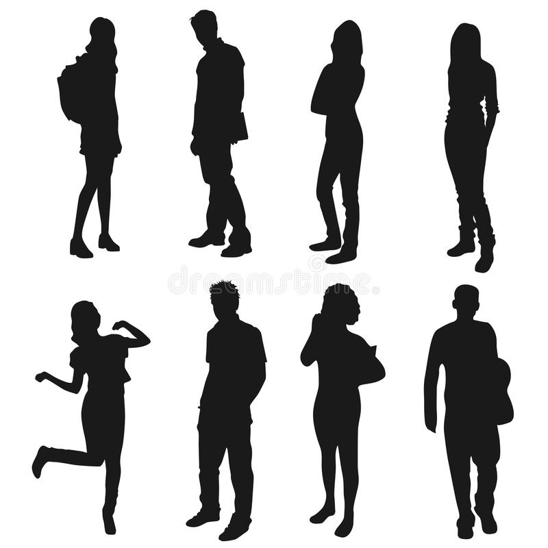 Ungdomar vektor illustrationer