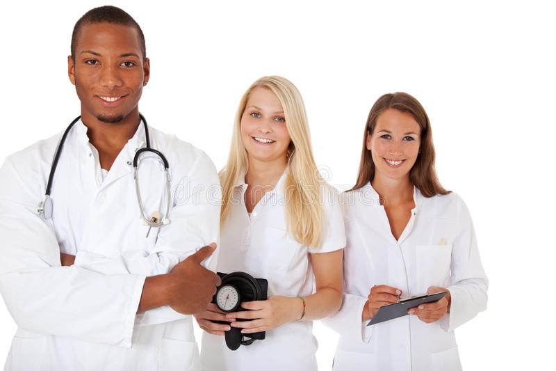 Grupp av unga medicinska professionell fotografering för bildbyråer