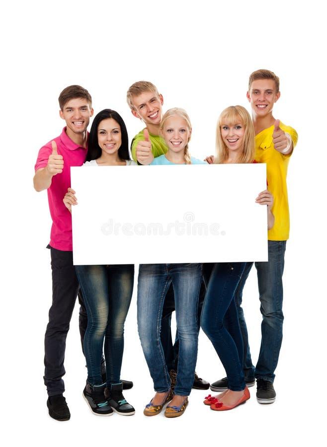 Grupp av ungdomar fotografering för bildbyråer