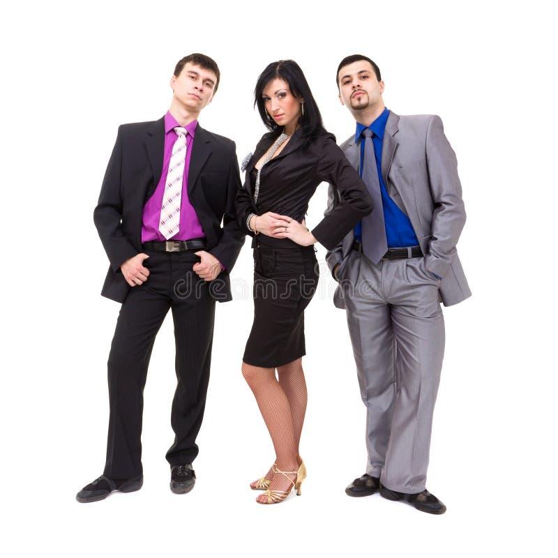 Grupp av ungt affärsfolk arkivfoto