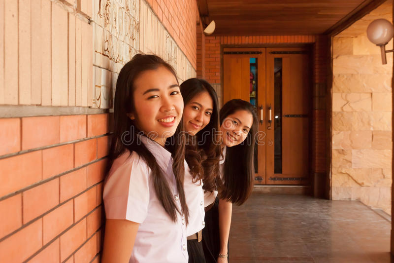 Grupp av universitetsstudenten arkivbild