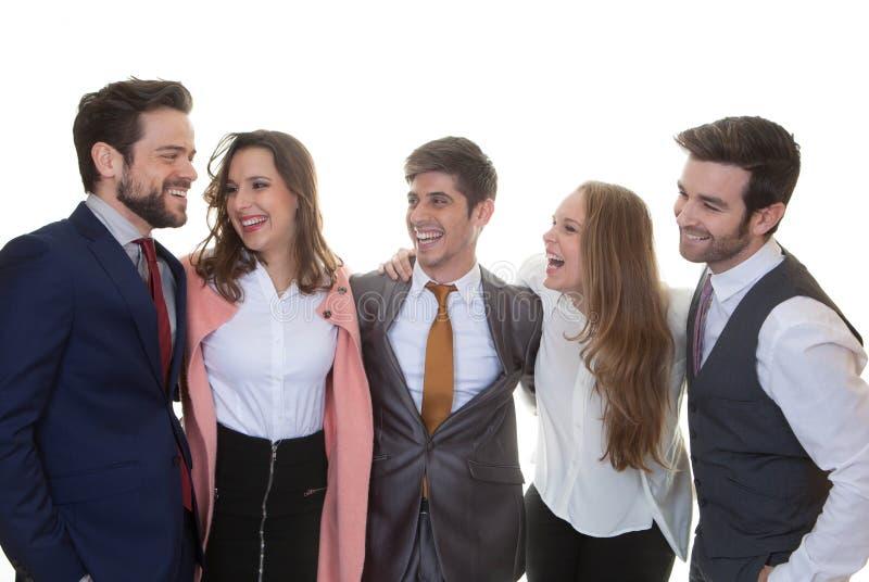 Grupp av vänligt affärsfolk arkivfoto