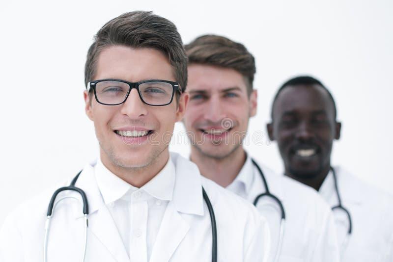 Grupp av yrkesmässiga läkare arkivbild