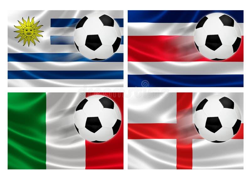 Grupp D för Brasilien världscup 2014 stock illustrationer