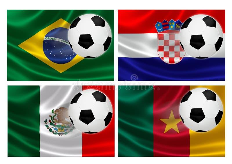 Grupp A för Brasilien världscup 2014 royaltyfri illustrationer