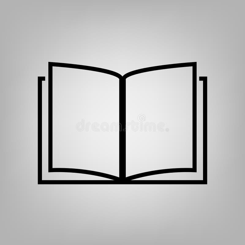 Grupp för symbol för utbildning för symbol för vektor för boköversiktslägenhet av teckenillustrationen för den grafiska designen, royaltyfri illustrationer