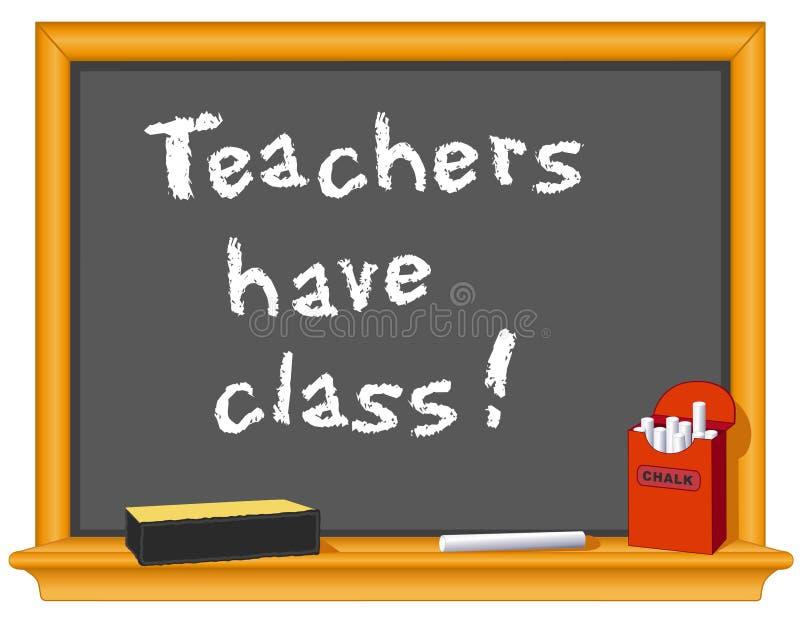 grupp har lärare stock illustrationer