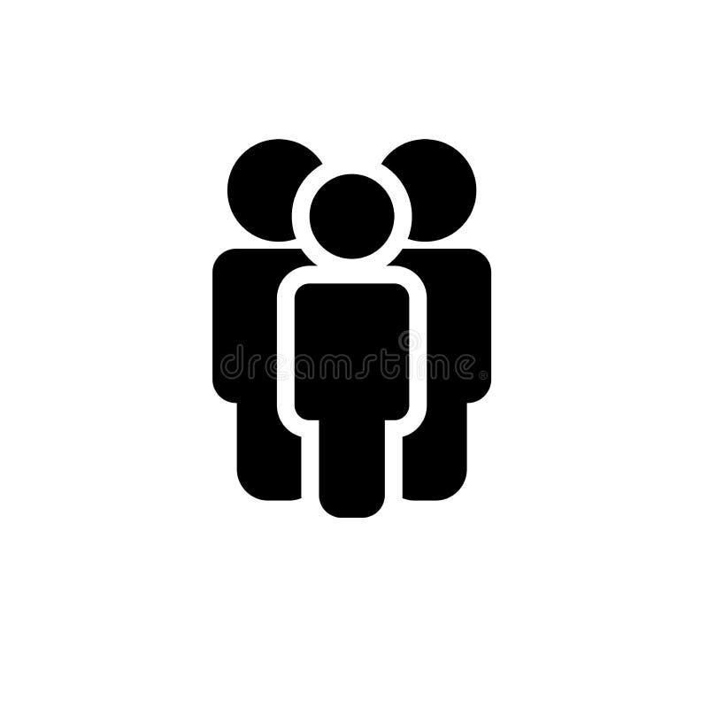 Grupp människor eller grupp av användare stock illustrationer