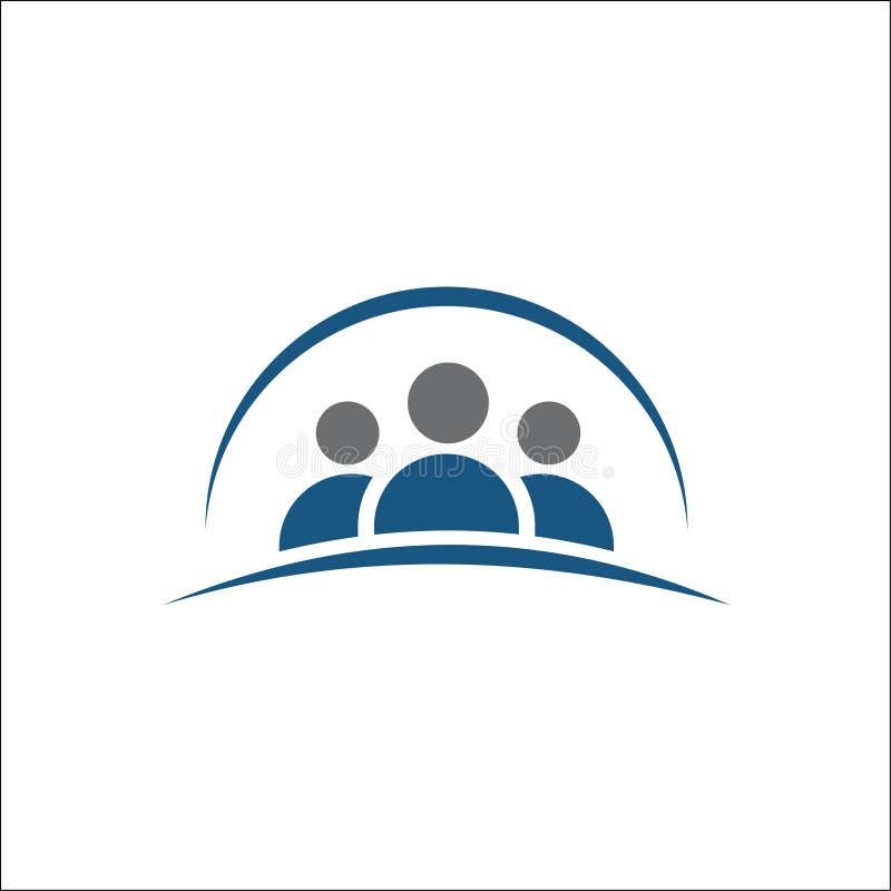 Grupp människorsymbol, vänsymbol, logovektorillustration stock illustrationer