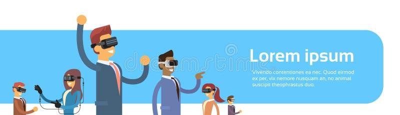 Grupp Team Wear Virtual för affärsfolk stock illustrationer