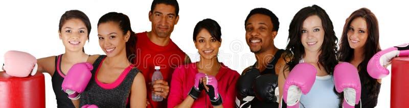 Gruppboxning arkivbild