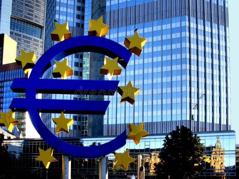 gruppcentral - europeiska frankfurt royaltyfri fotografi