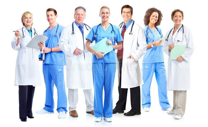 Gruppe Ärzte und Krankenschwestern lizenzfreie stockbilder