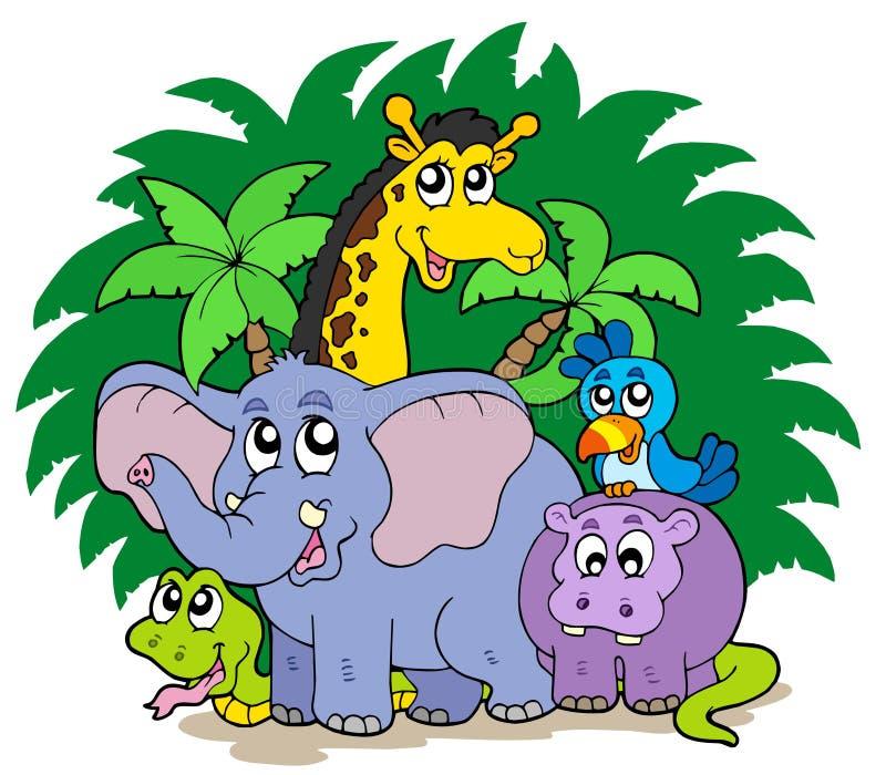Gruppe afrikanische Tiere stock abbildung