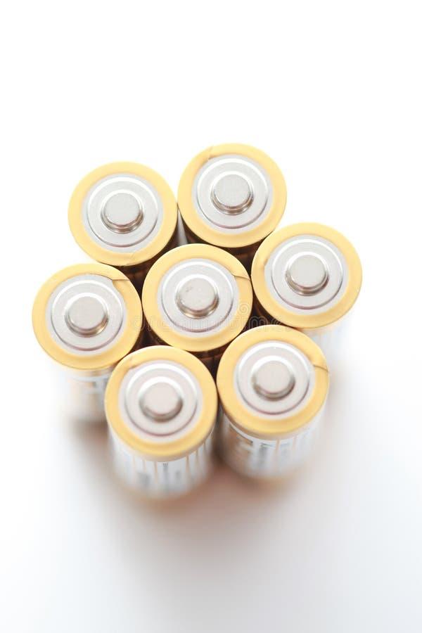 Gruppe Batterien lizenzfreies stockbild