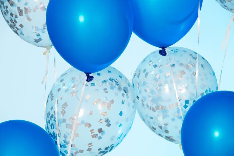 Gruppe bunte Luftballone stockbild