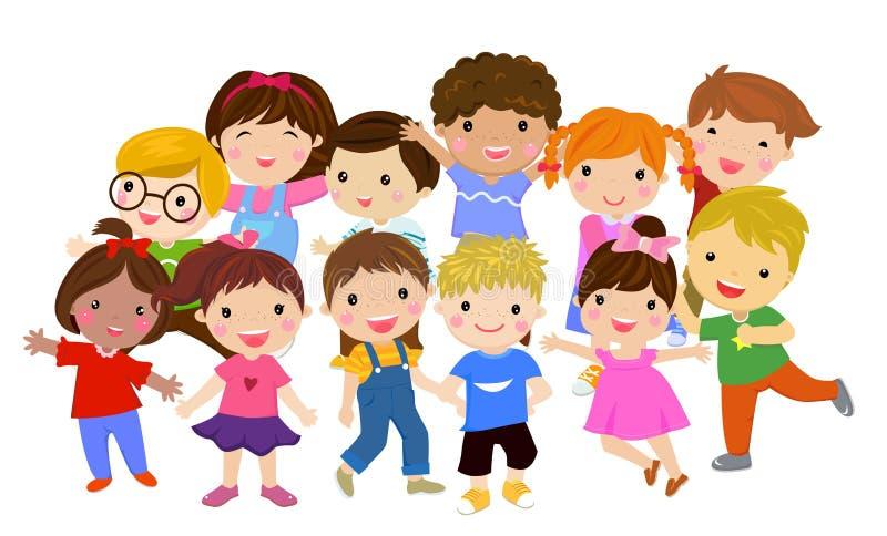 Gruppe der Kindersammlung stock abbildung