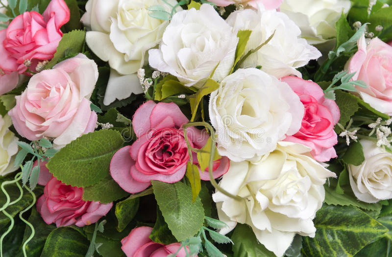 Gruppe der rosafarbenen Blume des Gewebes stockbild