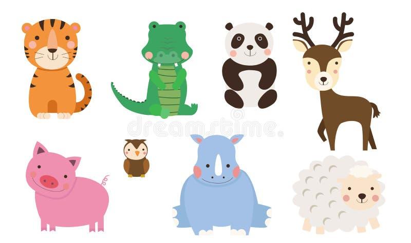 Gruppe der Tiersammlung lizenzfreie abbildung
