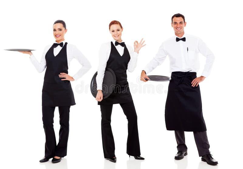Gruppenrestaurantpersonal lizenzfreies stockbild