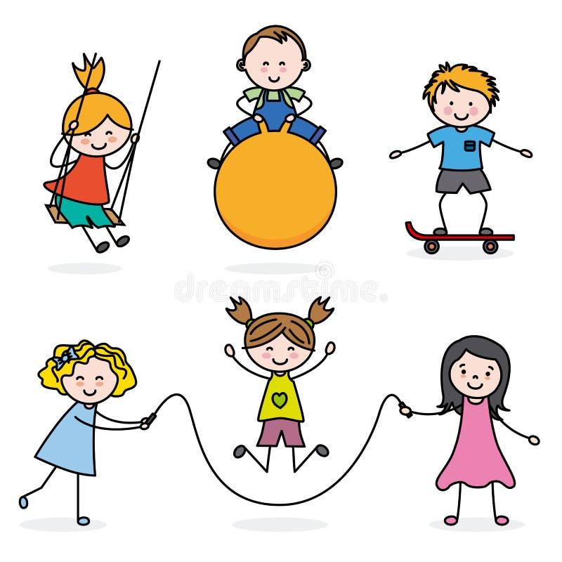 Gruppe des Kindspielens vektor abbildung