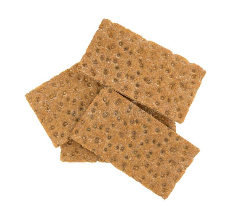 Gruppe des Korn-knusprigen Brotes des Sauerteigs ganze Cracker lizenzfreie stockfotografie