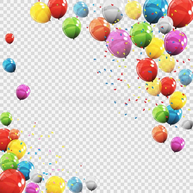 Download Gruppe Farbglatte Helium-Ballone Auf Transparentem B Vektor Abbildung - Illustration von bunt, glücklich: 90231024