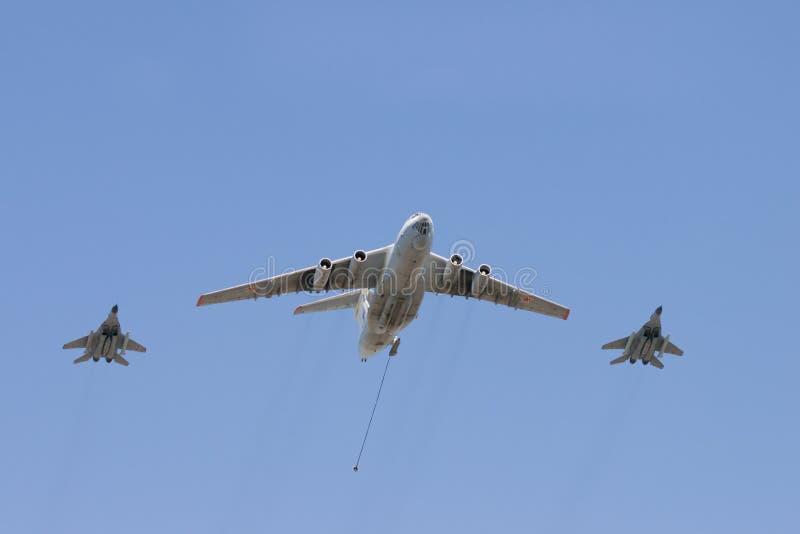 Gruppe Flugzeuge stockfoto