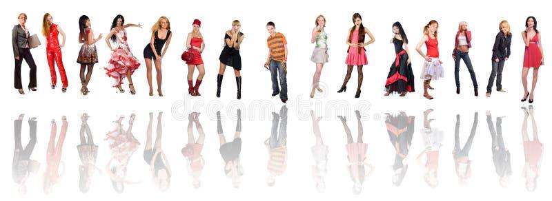 Download Gruppe Frauen stockfoto. Bild von frau, künstler, zeile - 5448566