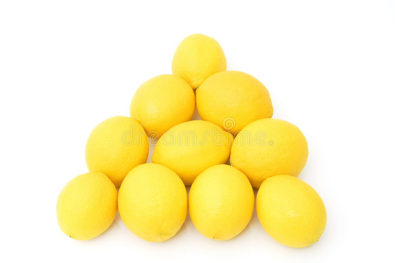 Gruppe frische Zitronen lizenzfreies stockfoto